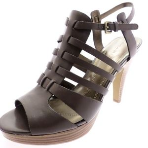 Tahari Brown Strappy Sandals